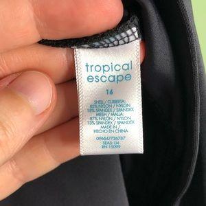 Tropical Escape Swim - NWT Tropical Escape Swimsuit Tankini Top Size 16